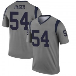 Bryce Hager Los Angeles Rams Men's Legend Inverted Nike Jersey - Gray