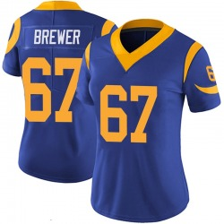 Chandler Brewer Los Angeles Rams Women's Limited 100th Vapor Nike Jersey - Royal